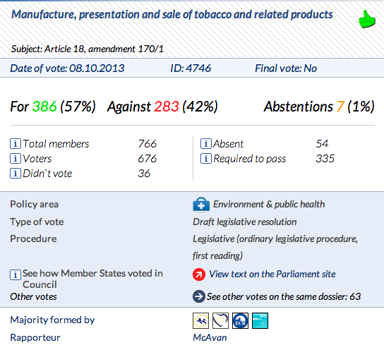 TPD vote
