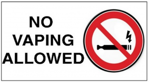 No vaping allowed